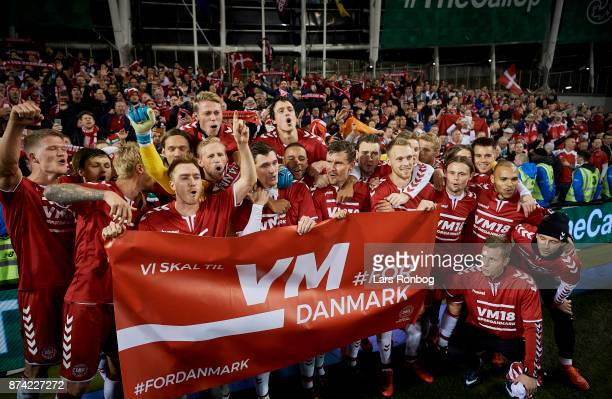 the FIFA 2018 World Cup Qualifier PlayOff Second Leg match between Republic of Ireland and Denmark at Aviva Stadium on November 14 2017 in Dublin...
