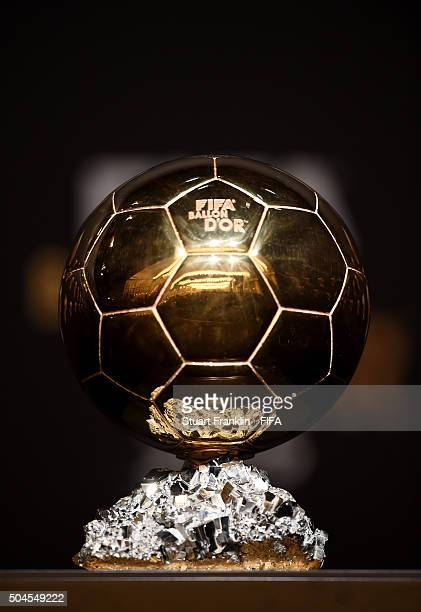 The FIFA FIFA Ballon d'Or trophy prior to the FIFA Ballon d'Or Gala 2015 at the Kongresshaus on January 11 2016 in Zurich Switzerland