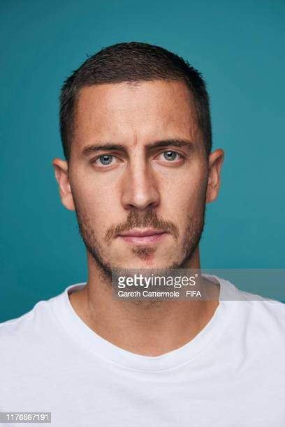 The FIFA FIFPro Men's World11 Award finalist Eden Hazard of Real Madrid and Belgium poses for a portrait ahead of The Best FIFA Football Awards 2019...