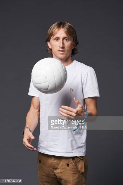 The FIFA FIFPro Men's World11 Award finalist Luka Modric of Real Madrid and Croatia poses for a portrait ahead of The Best FIFA Football Awards 2019...