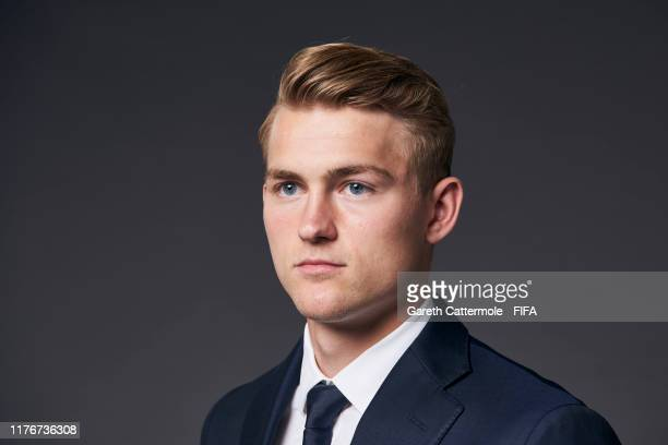 The FIFA FIFPro Men's World11 Award finalist Matthijs de Ligt of Juventus and Netherlands poses for a portrait ahead of The Best FIFA Football Awards...