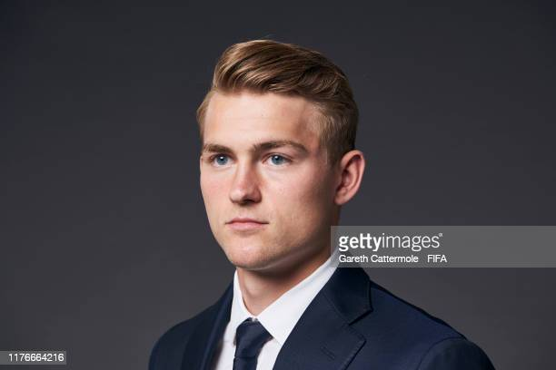 The FIFA FIFPro Men's World11 Award finalist Matthijs de Ligt pf Juventus and Netherlands poses for a portrait ahead of The Best FIFA Football Awards...