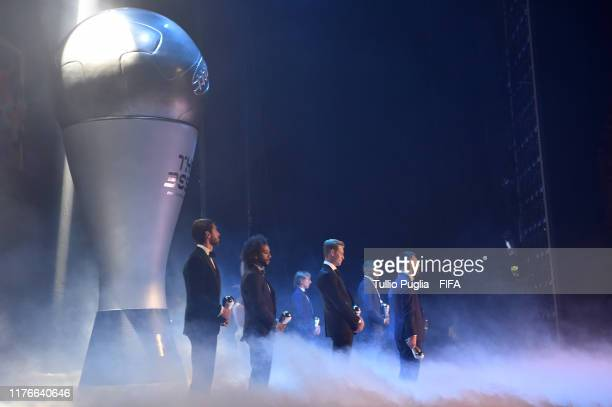 The FIFA FIFPro Men's World11 Award winners are unveiled during The Best FIFA Football Awards 2019 at Teatro alla Scala on September 23 2019 in Milan...