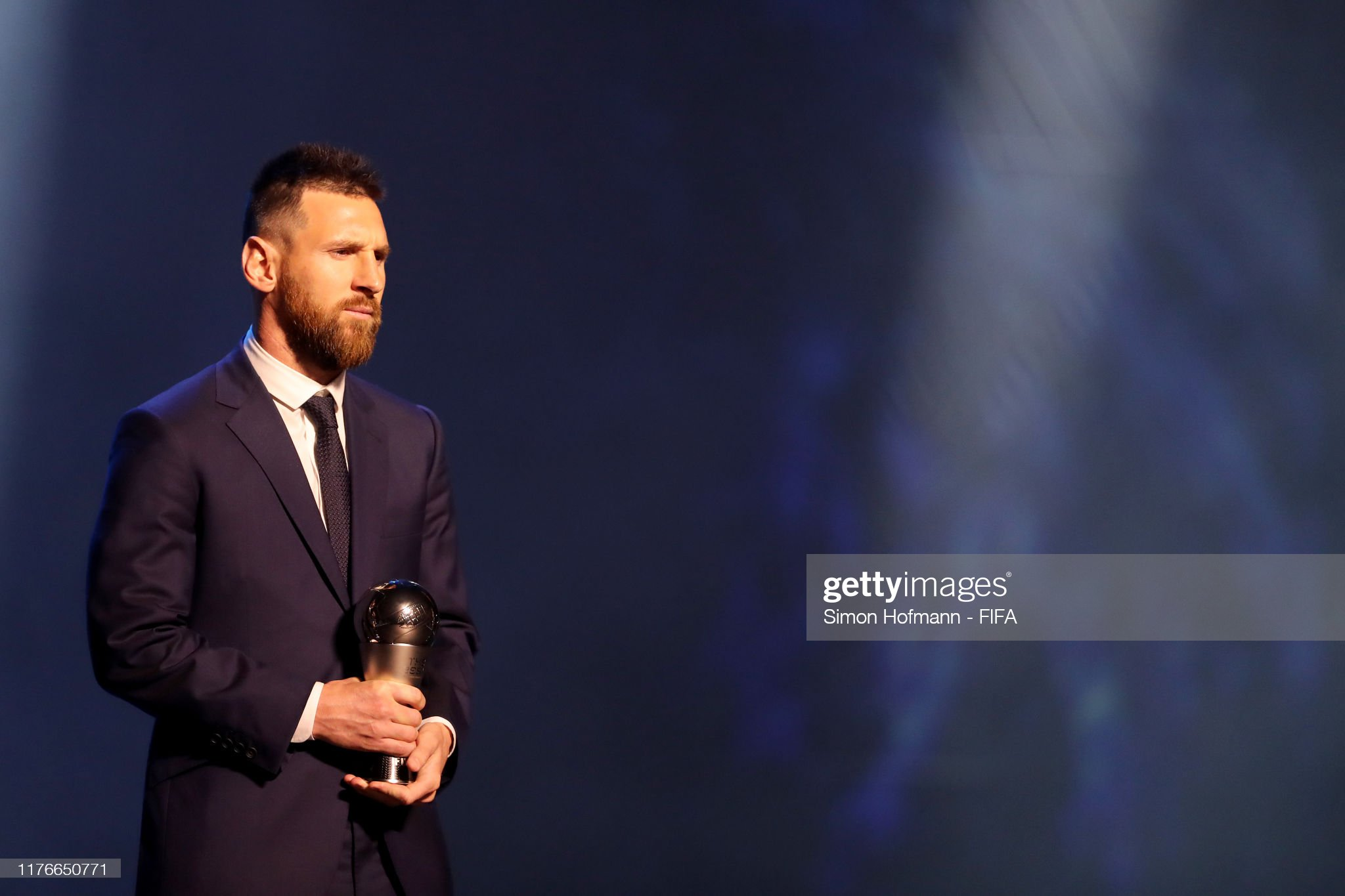 The Best FIFA Football Awards 2019 The-fifa-fifpro-mens-world11-award-winnner-lionel-messi-of-fc-and-picture-id1176650771?s=2048x2048