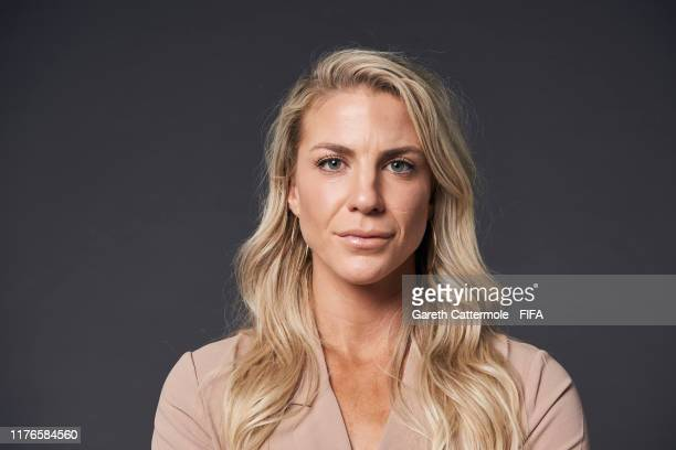 The FIFA FIFPro Women's World11 2019 finalist Julie Ertz of the Chicago Red Stars and United States poses for a portrait ahead of The Best FIFA...