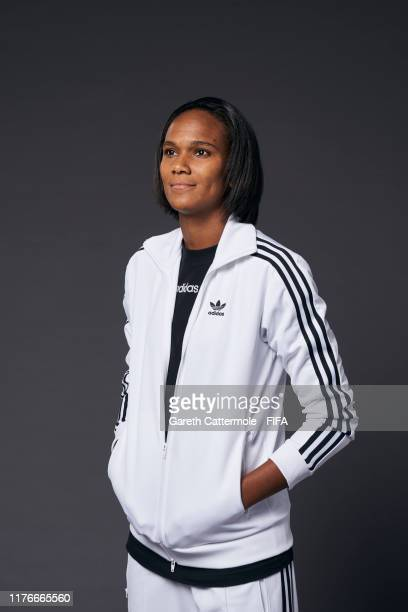 The FIFA FIFPro Women's World11 Award finalist Wendie Renard of Olympique Lyonnaise poses for a portrait ahead of The Best FIFA Football Awards 2019...