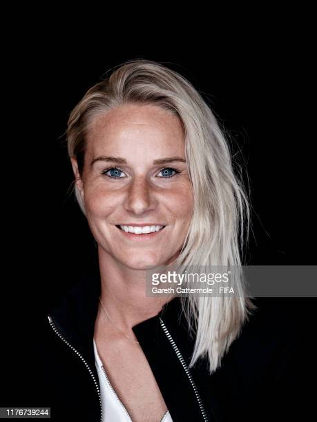 The FIFA FIFPro Women's World11 Winner Amandine Henry of Olympique Lyonnaise and France Women poses for a portrait ahead of The Best FIFA Football...