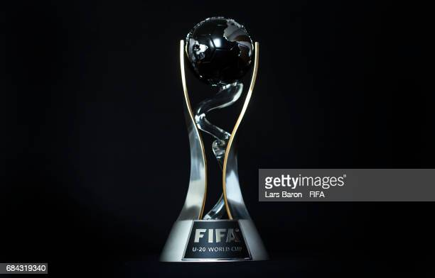 The FIFA U20 World Cup Trophy is seen on May 18 2017 in Suwon South Korea The FIFA U20 World Cup Korea Republic 2017 will kick off on May 20 and the...