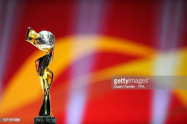The FIFA womens world cup trophy on display during the offical FIFA 2011 Women 's World Cup qualifying draw on November 29, 2010 in Frankfurt am...