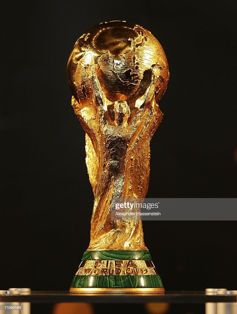 The FIFA World Cup is pictured at the city hall on May 25, 2006 in Hamburg, Germany. The FIFA World Cup will be presented to the public on May 26, 2006 in Hamburg, Germany.