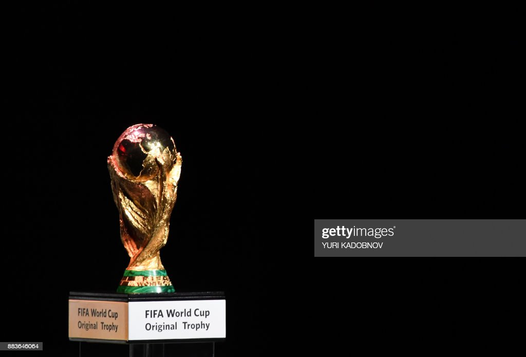 The Fifa World Cup Trophy Is Displayed During The 2018 Fifa World