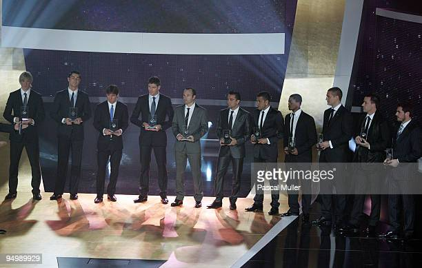 The FIFpro World XI during the FIFA World Player Gala 2009 at the Kongresshaus on December 21 2009 in Zurich Switzerland