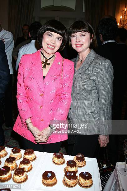 The Fifth Anniversary Of SaintHonore Committee Le Bristol Hotel In Paris France On May 15 2007 Mireille Mathieu and his sister Monique