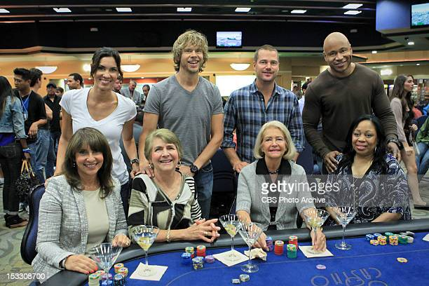 The Fifth Man Pictured Behind the Scenes of NCIS Los Angeles Daniela Ruah and mother Katia Broder Eric Christian Olsen and mother Jeanne Olsen Chris...