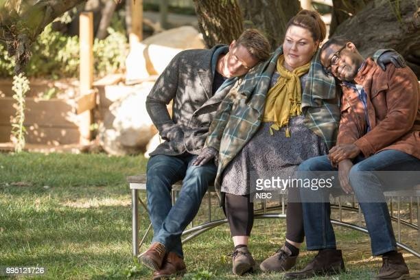 "The Fifth Wheel"" Episode 211 -- Pictured: Justin Hartley as Kevin, Chrissy Metz as Kate, Sterling K. Brown as Randall --"