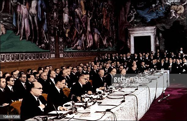The fiftieth anniversary of the Treaty of RomeOn 25th March 1957 during a solemn ceremony in the 'Orazi e Curiazi hall' of Palazzo dei Conservatori...