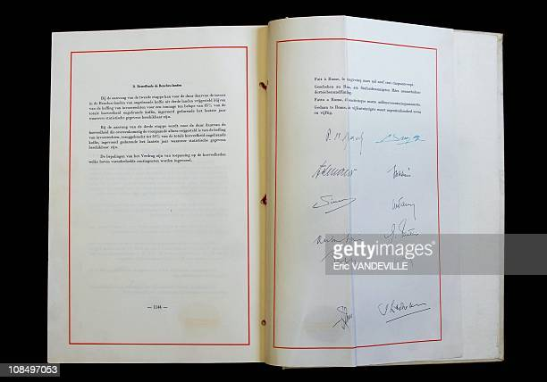 The fiftieth anniversary of the Treaty of RomeThe original Treaty is kept in the archives of the Farnesina palace in Rome the italian Ministry of...