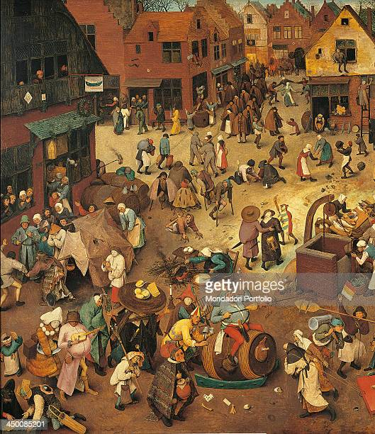 The Fight Between Carnival and Lent by Pieter Bruegel the Elder 16th Century oil on wood 118 x 164 cm