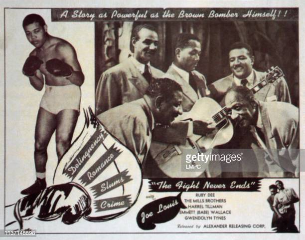 Joe Louis right The Mills Brothers 1949