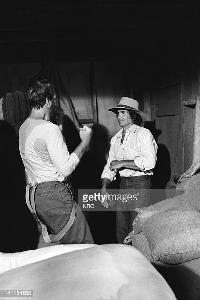 PRAIRIE The Fighter Episode 10 Aired Pictured Merlin Olsen as Jonathan Garvey Michael Landon as Charles Ingalls Photo by Ted Shepherd/NBCU Photo Bank