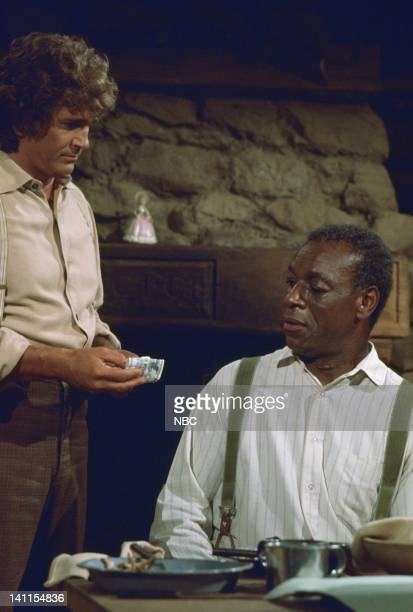PRAIRIE The Fighter Episode 10 Aired Pictured Michael Landon as Charles Ingalls Moses Gunn as Joseph 'Joe' Kagan Photo by Ted Shepherd/NBCU Photo Bank