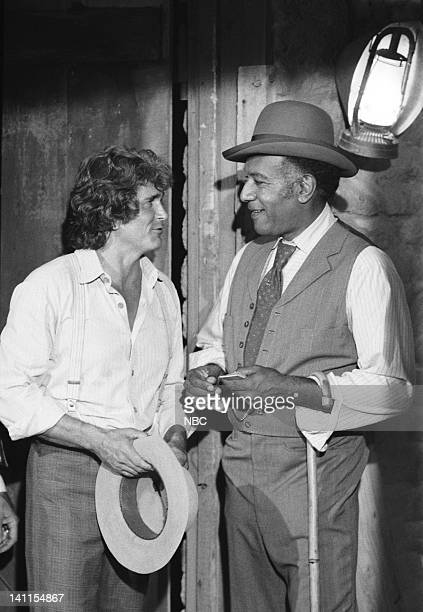 PRAIRIE The Fighter Episode 10 Aired Pictured Michael Landon as Charles Ingalls Raymond St Jacques as Manager L Moody Photo by Ted Shepherd/NBCU...