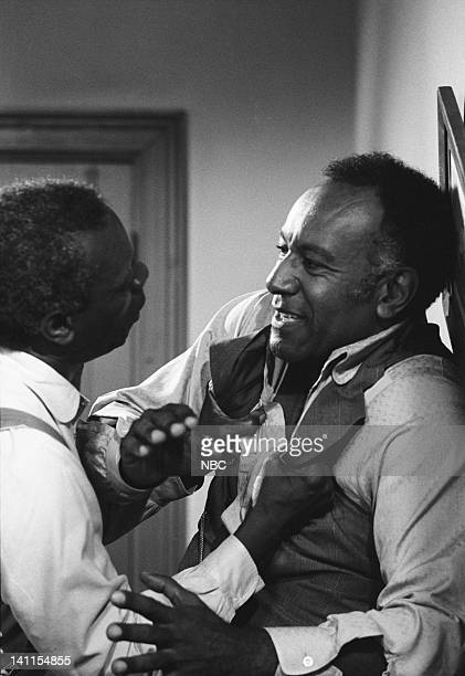 PRAIRIE The Fighter Episode 10 Aired Pictured Moses Gunn as Joseph 'Joe' Kagan Raymond St Jacques as Manager L Moody Photo by Ted Shepherd/NBCU Photo...