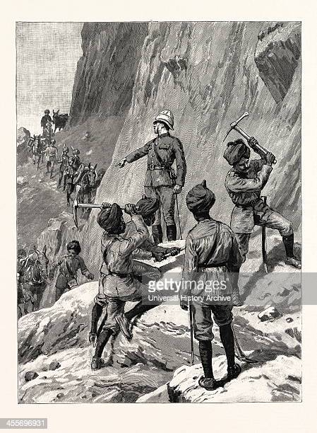 The Fighting Near Gilgit On The North-Western Frontier Of India: The Force On Its Way To The Front, The Mountain Battery Marching To Take Up Its...
