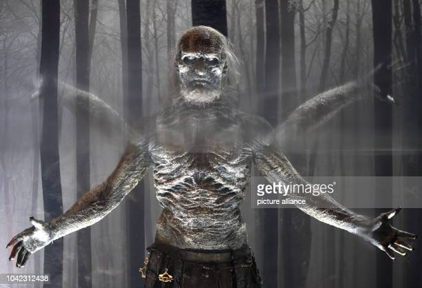 The figure 'White walker' a character from the USseries 'Game of Thrones' is on display during the openinig of the 'Game of Thrones' exhibition in...
