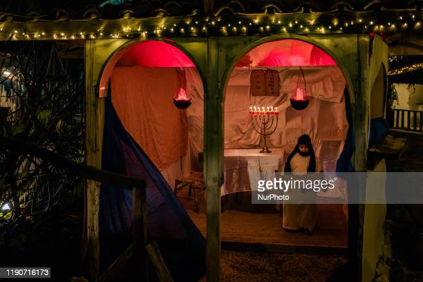 The figures recreate the characters of the Living Nativity in Palombaio a small hamlet of Bitonto in Puglia on December 28th