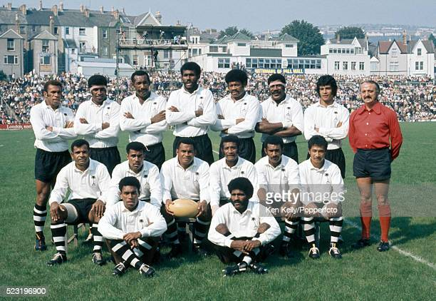 The Fiji Rugby Union XV prior to their match against Swansea at the St Helen's Ground in South Wales 8th September 1973 The match was played to...