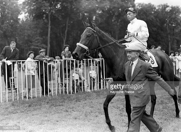 The Filly Barquette Ridden By The Jockey L Heurteur And Led By It'S Trainer Richard Carver Junior Has Just Won The Prix De Diane At The Chantilly...