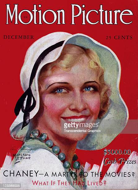 The film actress Ann Harding is the cover girl for Motion Picture magazine published in Chicago Illinois in December of 1931