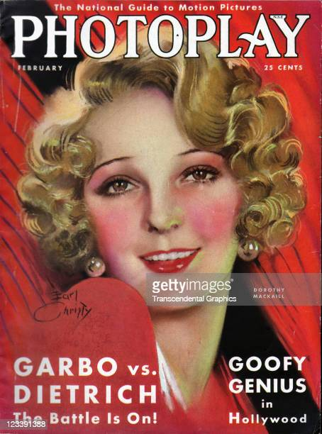 The film actress Dorothy Mackaill is the cover girl for Photoplay magazine published in New York City in February of 1931