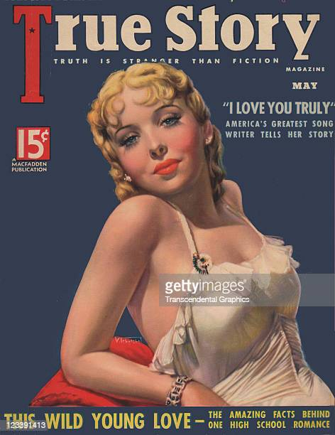 The film actress Ida Lupino is the cover girl for True Story magazine published in New York City in May of 1931
