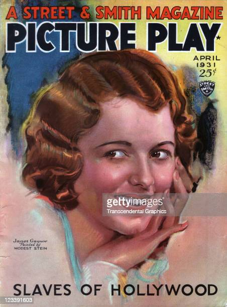 The film actress Janet Gaynor is the cover girl for Picture Play magazine published in New York City in April of 1931