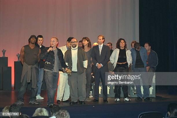 The film crew of 'Human Traffic' JKerrigan Jane Birkin Thierry de La Fournière festival Pres'