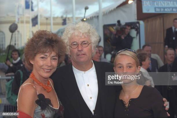 The film director JeanJacques Annaud with his wife and daughter