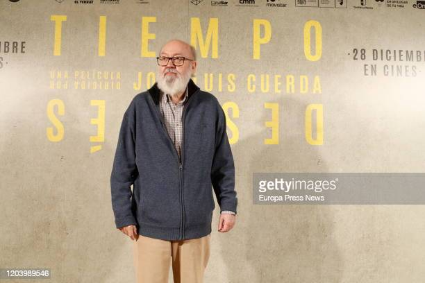 The film director Jose Luis Cuerda has died this Tuesday at the age of 72 in Madrid In the image the director during the premiere of the film 'Tiempo...