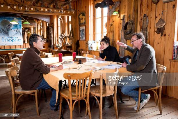 the film director Nicolas Vanier with the actors Melanie Doutey and JeanPaul Rouve are photographed for Paris Match at home on march 05 2018 in...