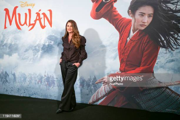the film director Niki Caro pose for the photocall of the film Mulan presentation at Santo Mauro Hotel on January 17 2020 in Madrid Spain