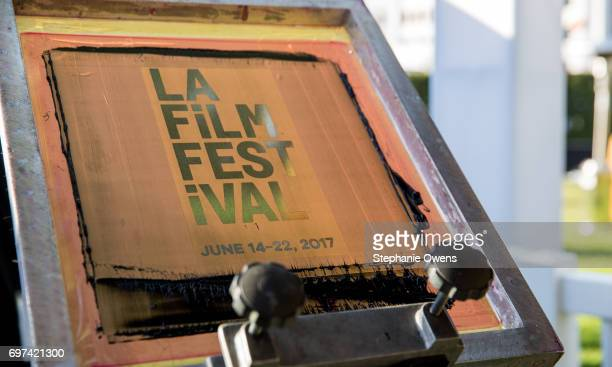 The LA Film Festival Screen Printing Station is seen during 2017 Los Angeles Film Festival on June 16 2017 in Culver City California