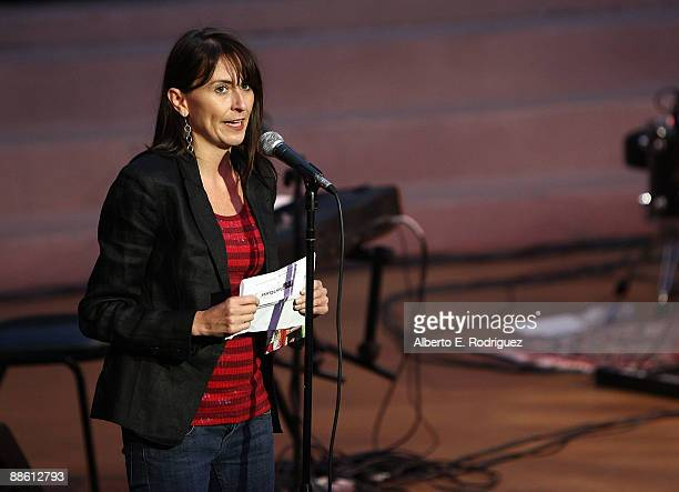 The Film Independent's Julianna Brannum speaks at the 2009 Los Angeles Film Festival's Soul Power Music by Kori Withers at the John Anson Ford...