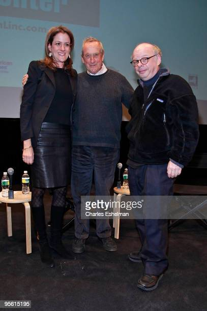 """The Film Society of Lincoln Center executive director, Mara Manus and writers/actors Andre Gregory and Wallace Shawn attend a screening of """"My Dinner..."""