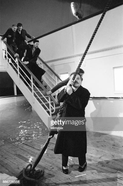 The filming of 'SOS' Titanic' at Shepperton Studios Pictured Ian Holm who plays the part of 'The Owner' J Bruce Ismay 11th April 1979