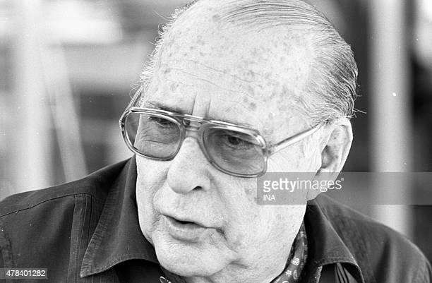 The film-maker Roberto Rossellini during the thirtieth Cannes film festival in 1977