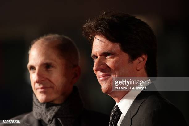 The films director Rob Marshall and producer John De Luca arriving for the world premiere of Nine at the Odeon Leicester Square London