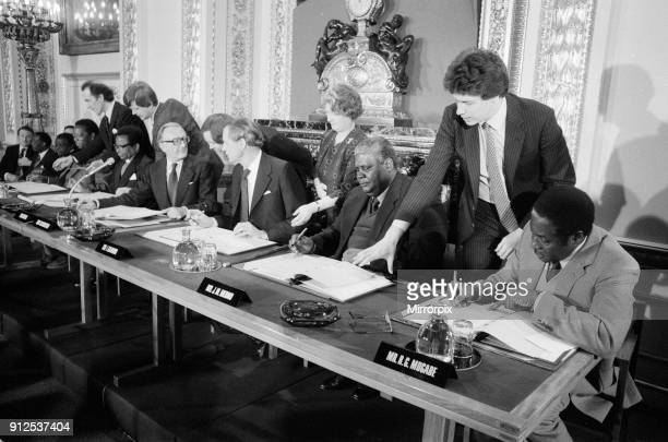 Rhodesia house pictures and photos getty images the final agreement on the future of rhodesia as the independent state of zimbabwe is signed lancaster house agreement platinumwayz