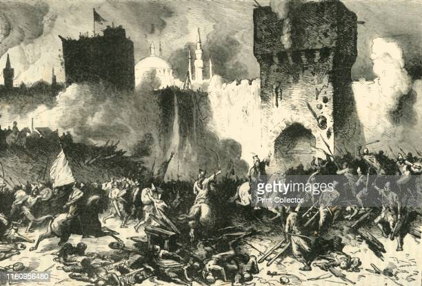 The Final Assault on Constantinople' 1890 The Fall of Constantinople capture of the Byzantine Empire's capital under Constantine XI Palaiologos by an...