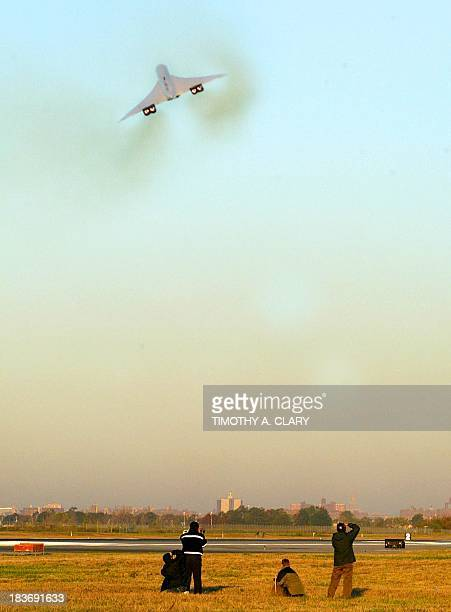 The final British Airways Concorde flight lifts off from John F Kennedy Airport in New York on its final voyage to London 24 October 2003 The flight...